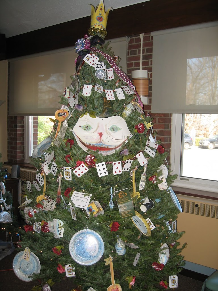 A whimsical Alice in Wonderland themed Christmas tree was donated to a needy family by Huguenot artist Diana Sorkin and other members of the Staten Island ...